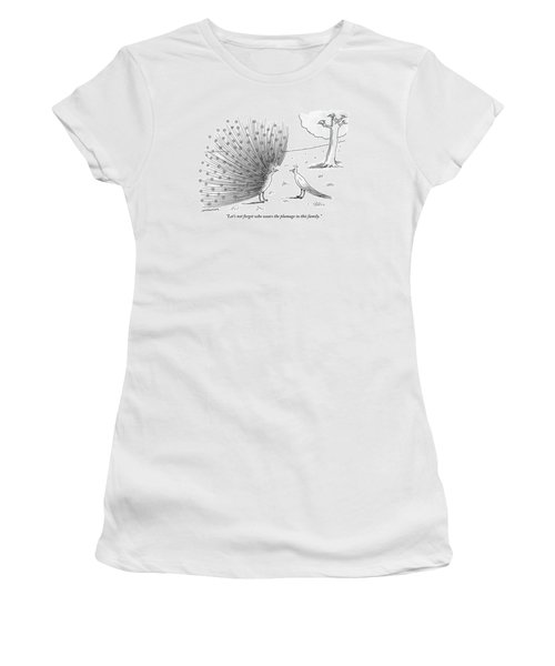 A Peacock With A Massive Coat Yells Women's T-Shirt