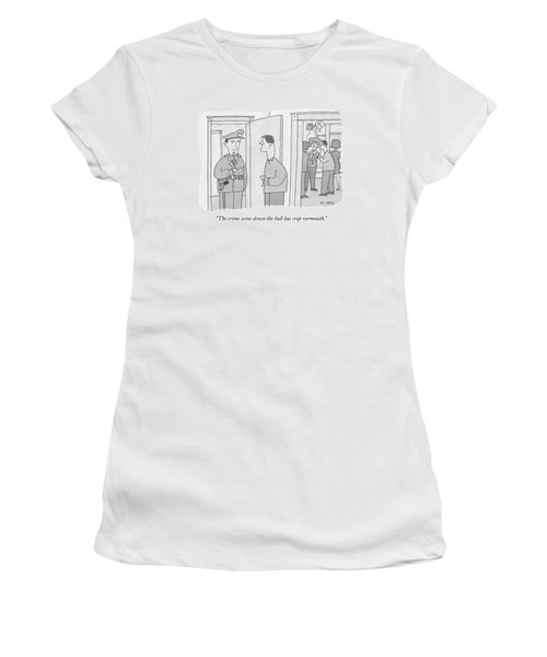 A Policeman With A Martini Glass Stands Women's T-Shirt