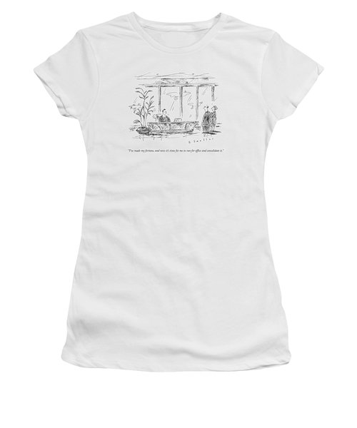 A Rich Ceo Speaks To A Man And Woman Women's T-Shirt