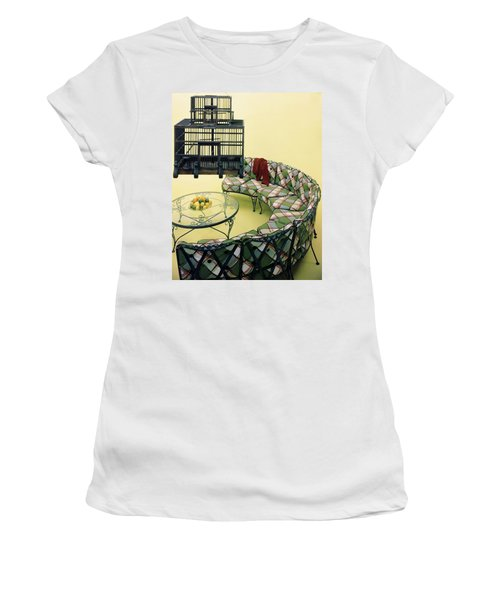A Round Couch And A Birdcage Women's T-Shirt