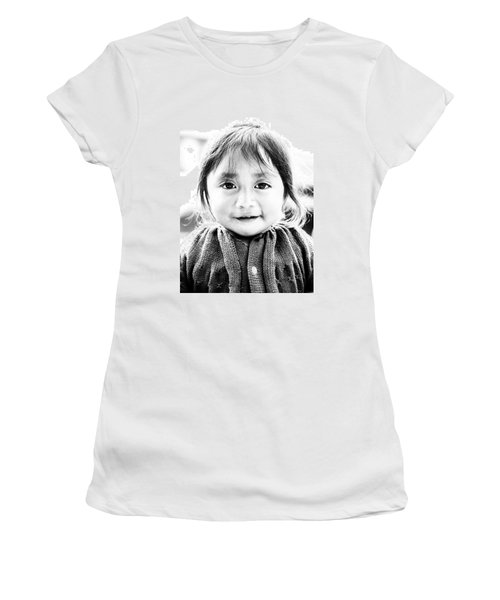 A Small Guatemalam Life - Black And White Women's T-Shirt (Junior Cut) by Shelby  Young