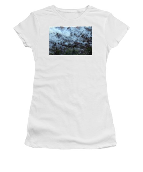 A Smoky Slope On White Draw Fire Women's T-Shirt (Athletic Fit)
