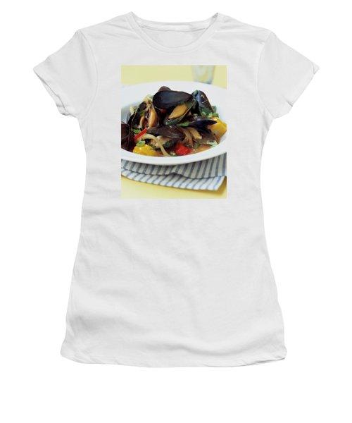 A Thai Dish Of Mussels And Papaya Women's T-Shirt
