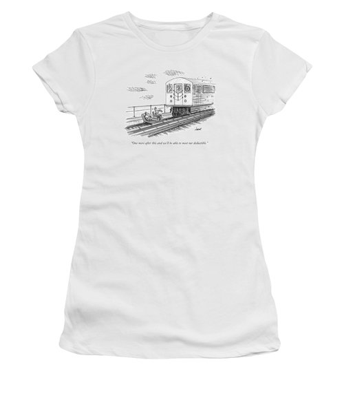 A Therapist Speaks To A Patient On Train Tracks Women's T-Shirt