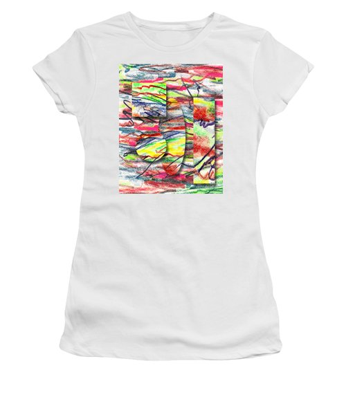 A Walk In The Park  Women's T-Shirt (Junior Cut) by Peter Piatt