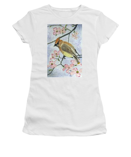 A Waxwing In The Dogwood Women's T-Shirt