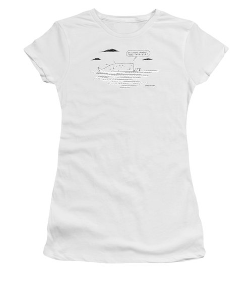 A Whale Reads A Book While Thinking Oh Women's T-Shirt