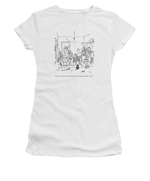 A Wife Asks Her Writer-husband Women's T-Shirt