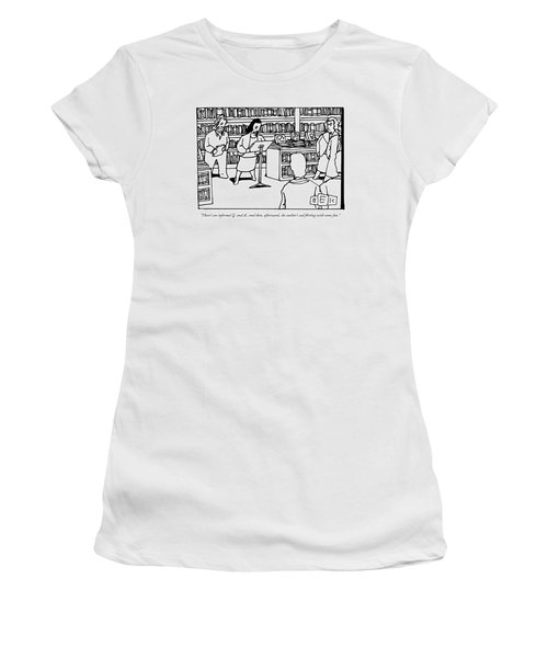 A Woman Behind A Podium Speaks To A Crowd Women's T-Shirt