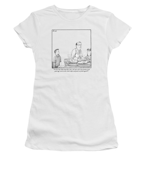 A Young Boy Complains About What's For Dinner Women's T-Shirt