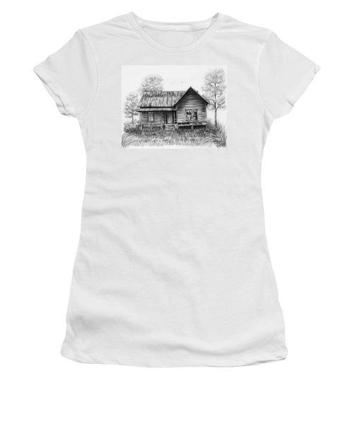 Abandoned House Women's T-Shirt (Junior Cut) by Lena Auxier