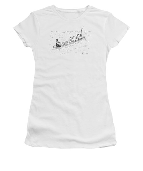 Abraham Lincoln With Tiger In Boat Women's T-Shirt