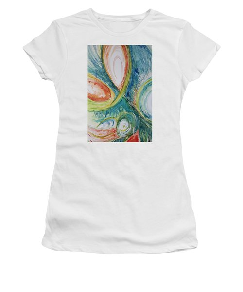 Abstract Chaos Women's T-Shirt (Athletic Fit)