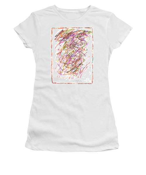 Women's T-Shirt (Junior Cut) featuring the painting Abstract Confetti Celebration by Joseph Baril