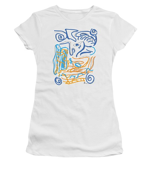 Abstract Digital Women's T-Shirt (Athletic Fit)