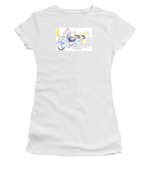 Abstract Motorcycle Women's T-Shirt (Junior Cut) by Kip DeVore
