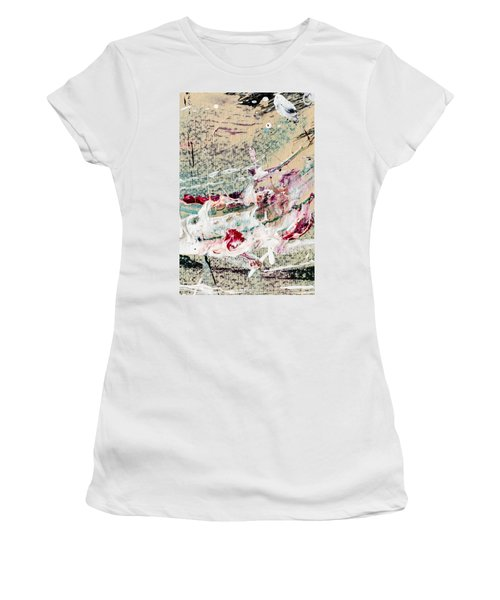 Abstract Original Painting Number Eight Women's T-Shirt (Athletic Fit)