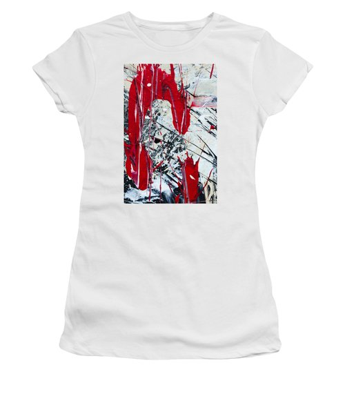 Abstract Original Painting Untitled Nine Women's T-Shirt (Athletic Fit)