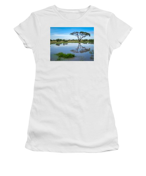 Acacia Tree Women's T-Shirt (Athletic Fit)