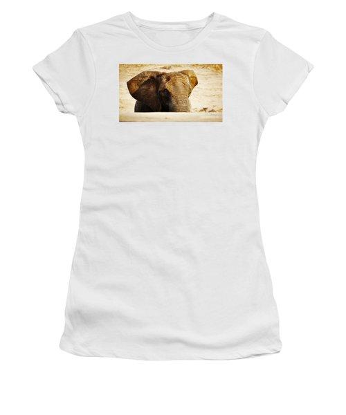 African Elephant Behind A Hill Women's T-Shirt