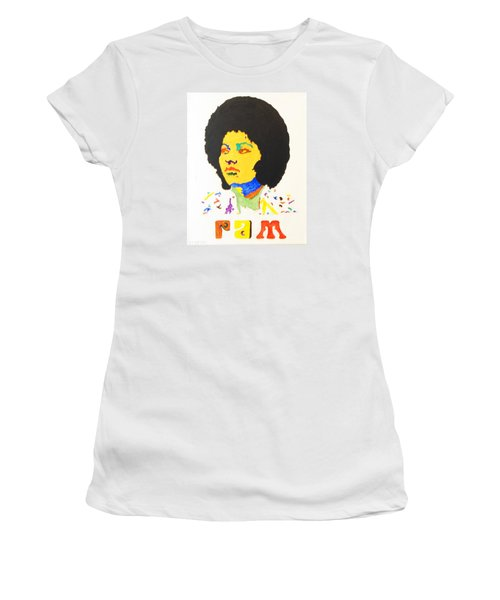 Women's T-Shirt (Junior Cut) featuring the painting Afro Pam Grier by Stormm Bradshaw
