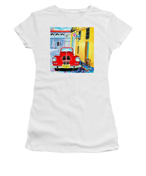 Afternoon In Havana Women's T-Shirt (Athletic Fit)