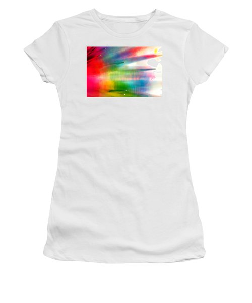 Women's T-Shirt (Junior Cut) featuring the photograph Age Of Aquarius by Dazzle Zazz