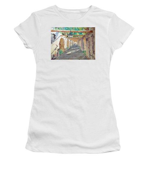 Alamo Walkway Women's T-Shirt (Athletic Fit)