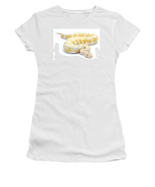 Albino Royal Python Women's T-Shirt (Athletic Fit)