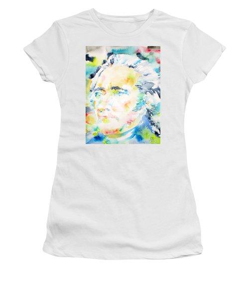 Alexander Hamilton - Watercolor Portrait Women's T-Shirt (Athletic Fit)