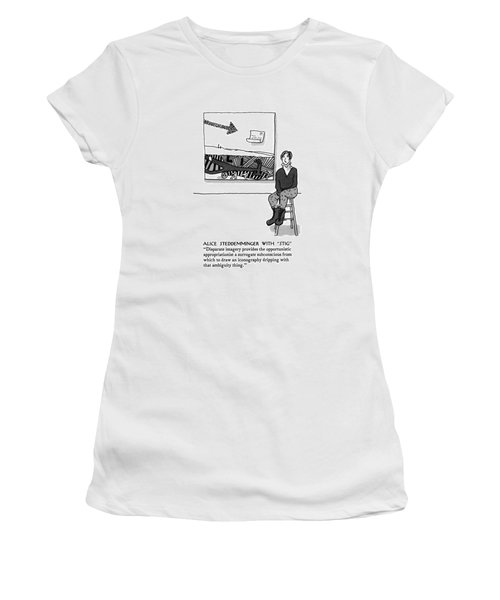 Alice Steddemminger With Stig Disparate Imagery Women's T-Shirt