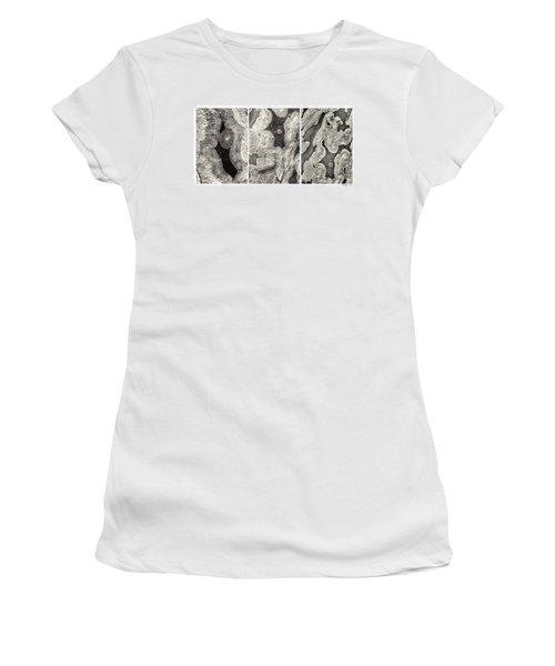 Alien Triptych Landscape Bw Women's T-Shirt