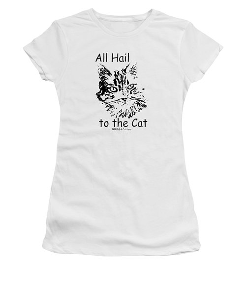 All Hail To The Cat Women's T-Shirt (Athletic Fit)
