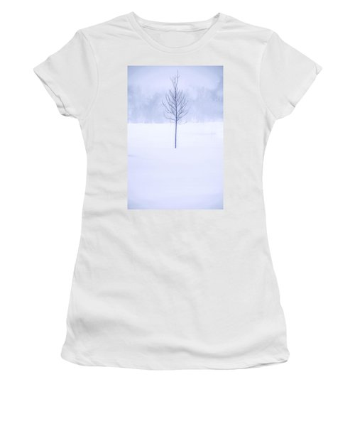 Alone In The Snow Women's T-Shirt (Junior Cut) by Andrew Soundarajan