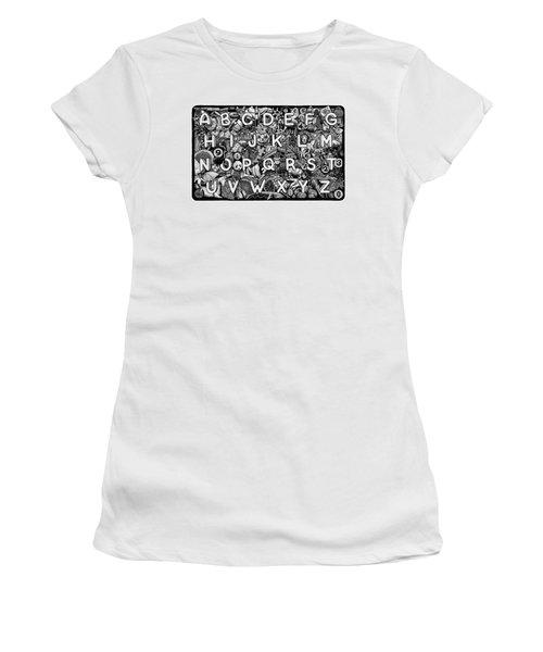 Alphabet Soup Women's T-Shirt (Athletic Fit)
