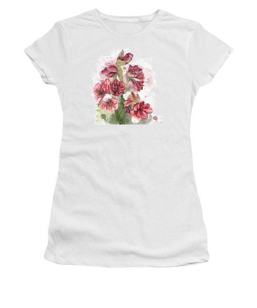 Amaryllis Flowers - 4. - Elena Yakubovich Women's T-Shirt (Athletic Fit)
