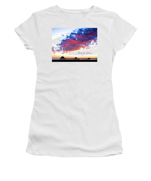 Amazing Grace Fire Sky Women's T-Shirt (Athletic Fit)