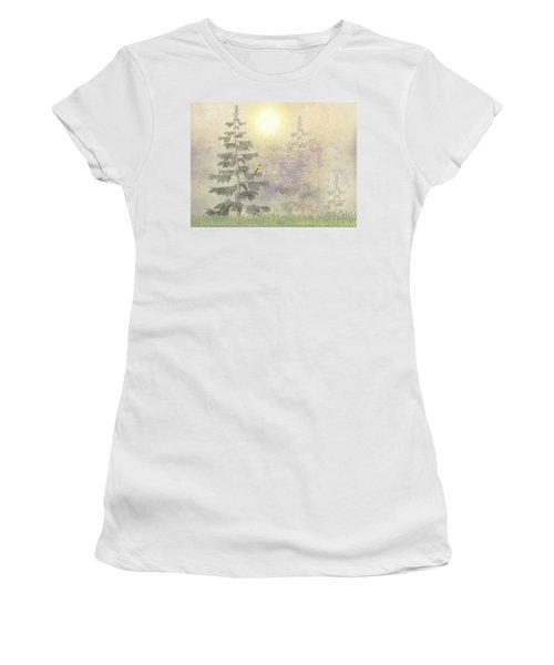 American Goldfinch Morning Mist  Women's T-Shirt