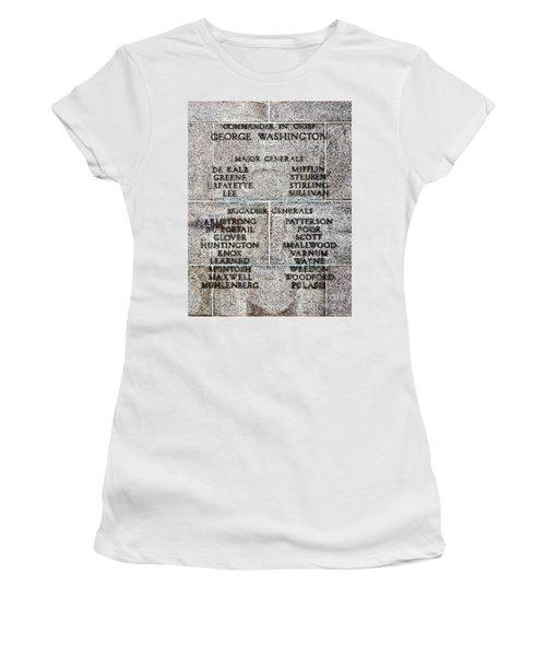 American Revolutionary War Generals Women's T-Shirt
