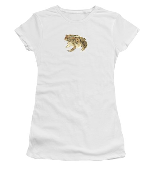 American Toad Women's T-Shirt (Junior Cut) by Cindy Hitchcock