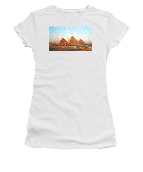 Ancient Egypt The Pyramids At Giza Women's T-Shirt (Athletic Fit)