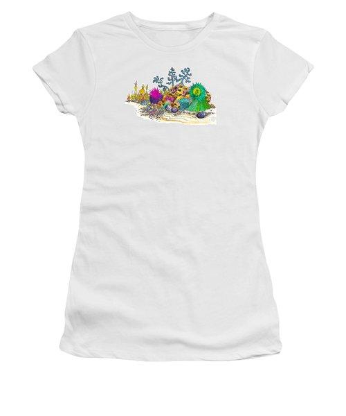 Anemone Garden Women's T-Shirt (Junior Cut) by Adria Trail