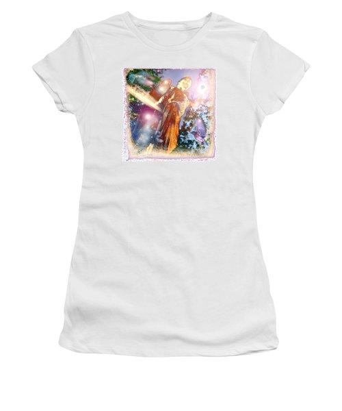 Women's T-Shirt (Junior Cut) featuring the photograph Angel Light by Marie Hicks