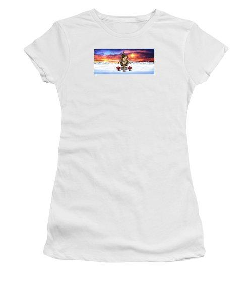 Antarctica Women's T-Shirt (Junior Cut) by Scott Ross