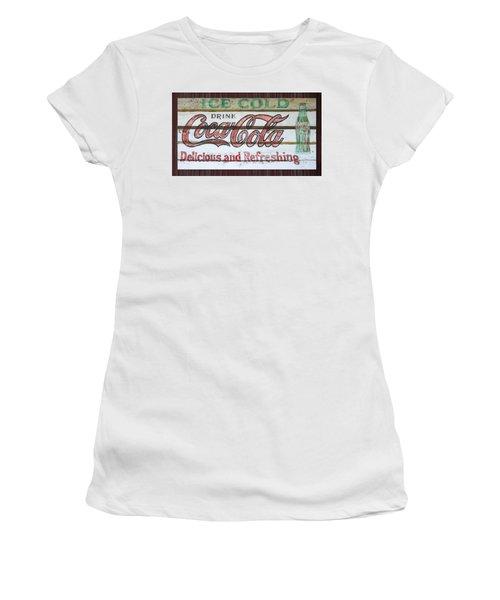 Antique Coca Cola Sign  Women's T-Shirt