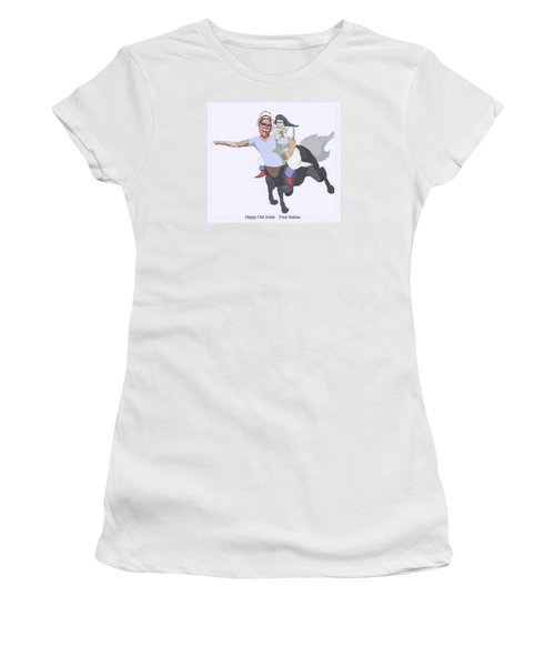 Aphrodite And Centaur Women's T-Shirt (Athletic Fit)