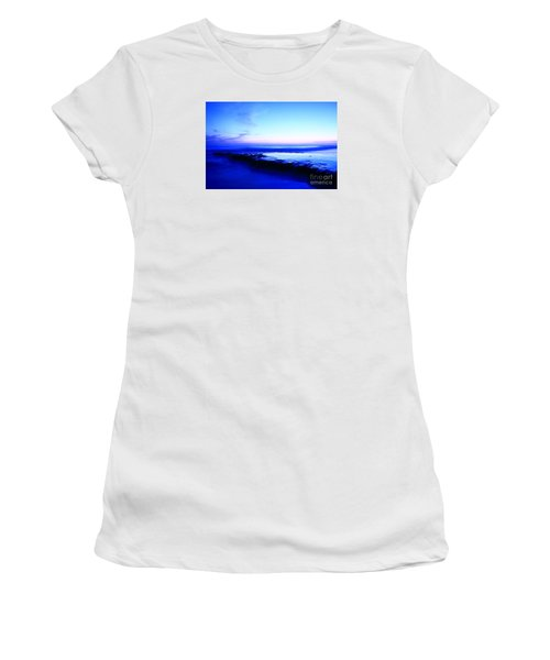 Women's T-Shirt (Athletic Fit) featuring the photograph Swamis Aqua Reef  by John F Tsumas
