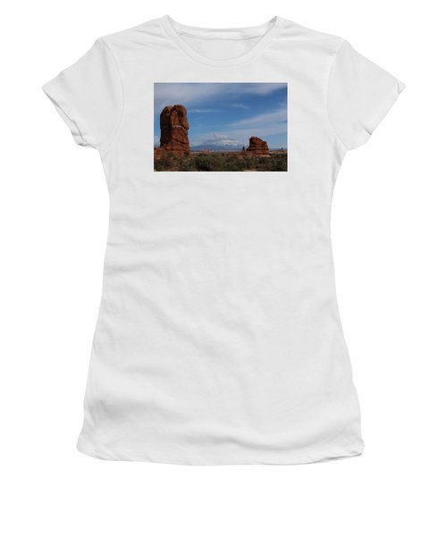 Arches National Monument Women's T-Shirt (Athletic Fit)