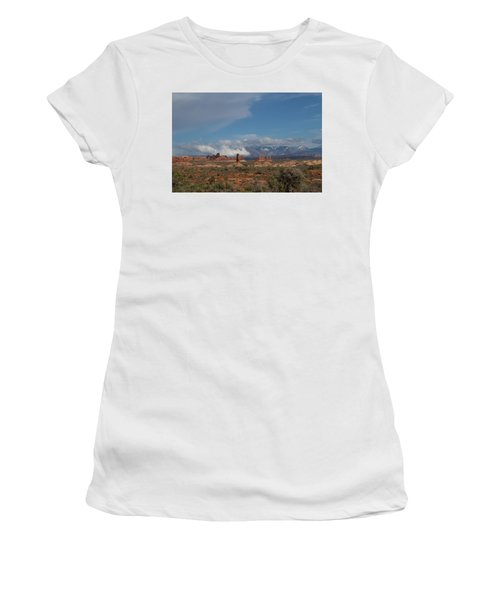 Arches National Monument Utah Women's T-Shirt (Athletic Fit)