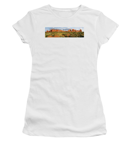 Arches National Park Panorama Women's T-Shirt (Athletic Fit)